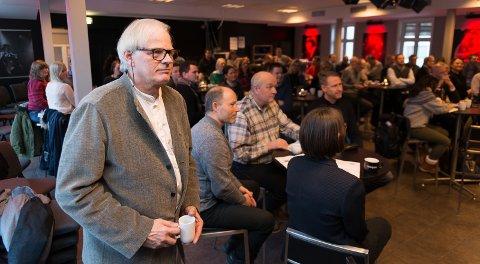 MER TRE: Professor Marius Nygaard ved Arkitektur- og designhøgskolen i Oslo er forkjemper for at man bruker mer tre i bygg.