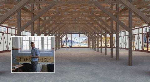 Dicylageret: Kjetil Widding, dagleg leiar for Siderklynga Hardanger, som er partnar i prosjektet, omtalte Dicylageret som eit eksepsjonelt bygg, og som ein katedral innvendig.foto: Sara Nå Aga / Norconsult