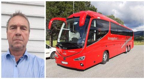 FULL STOPP: Per Martin Kjellesvik, turkonsulent i Knapphus Buss, var i gang med å planlegge dagsturer fra oktober. Nå er det full stopp for påmeldingsturer inntil videre.
