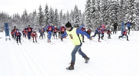 HÅPER PÅ GOD DELTAKELSE: Rennleder Arne Ove Holmen håper det blir like mange deltakere på Barneåsan til helga som det var for to år siden. Da sendte han ut 30 løpere på 6 km ved klubbhuset til KJærstad IL på Aufles.  FOTO: PER VIKAN