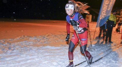 SØLV:  Hanna Bjørnli fra Halsøy IL Ski startet KM i Lofoten med sølv i fristil lørdag.