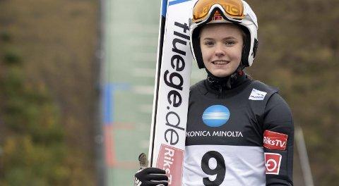 ANDREPLASS: Eirin Kvandal er tilbake igjen og gjorde sin beste konkurranse i Vikersund.