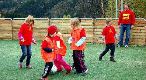 2006: Ballbingen ved Grane barne- og ungdomsskole ble åpnet i 2006.