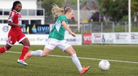 Line Krogedal Smørsgård scoret sitt niende mål i årets toppserie.
