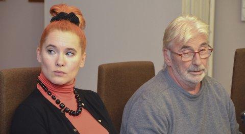 Reagerer: Charlotte Therkelsen Sætersdal (Rødt) og Øyvind Olsen (SV) var ikke fornøyde med flertallets budsjettforslag.