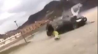 VOLD: Et klipp fra den voldsomme videoen som en rekke aviser offentliggjorde etter slagsmålet ved Lyngdalshallen. Politiet mislikte publiseringen.