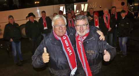 Suksess: I 24 år har disse gutta reist sammen på skøyteløp. Og med Jens Kase (t.h.) og Leif Ivar Akselvoll i spissen blir det nok suksess i år, også. Begge foto: Joakim Bekkåsen