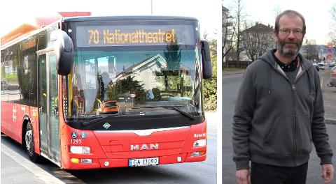Steinar Fuglevaag (SV) håper Ruter vil gjøre en ny vurdering av ekspressrute på linje 70.