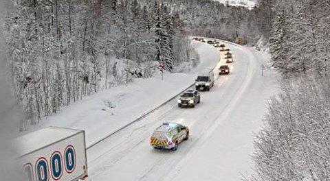 PROBLEMBAKKE:Her står vogntog fast nesten ukenlig på vinteren.