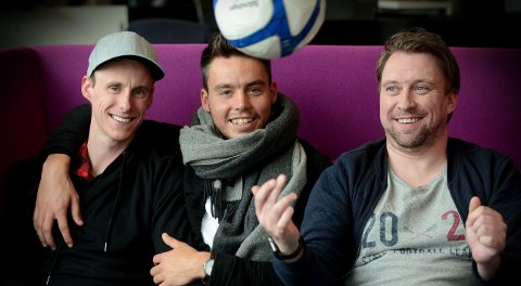 GJEST: Kanskje burde Marius Hagen fra Norfjordeid hatt tolk med i studio, men vi prøver. Elverum-spilleren gjester Magnus Torp Antonsen og Jan Morten Frengstad i podkasten FotballHedmark.