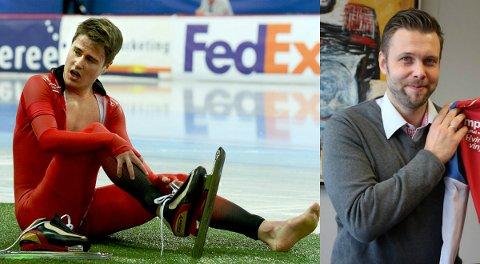 SPENNENDE DUO: Ole Bjørnsmoen Næss (til venstre) håper å slå seg inn på verdenscuplaget på skøyter denne sesongen. Eskil Ervik skal bidra til at tynsetingen klarer det.
