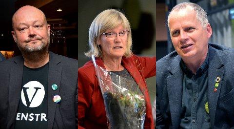 TØFF KAMP: Stig Vaagan (V), Karin Andersen (SV) og Jon Lurås (MDG).