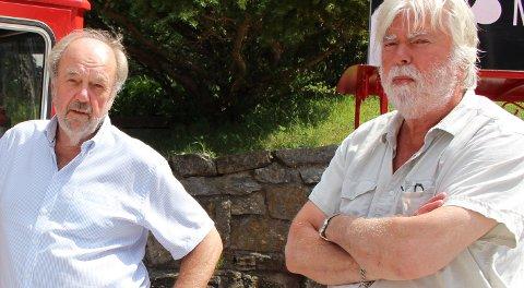 John Bråthen og Nils Egel Nilsen leder styret i nærings- og handelsforeningen Bamble 2025 som foreslår at Bamble kommune leier ut forpakterboligen til leierne av Langøya hovedgård.