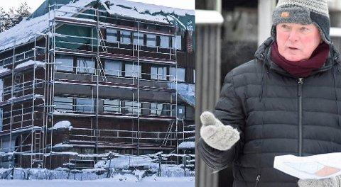 BYGGES OPP: – Byggearbeidene har pågått i strid med kommunens vedtak, sier Stein-Roar Eriksen, uavhengig politikere i Ringerike.
