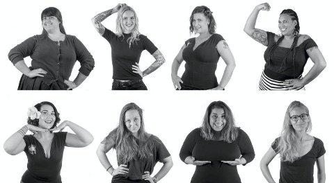 #beyondbody: Åtte ulike kvinner deltar i Carina Carlsens og Spiseforstyrrelsesforeningens nye kampanje. Videoene ligger ute på YouTube under navnet Beyondbody.                                           Foto: Carina E. Carlsen