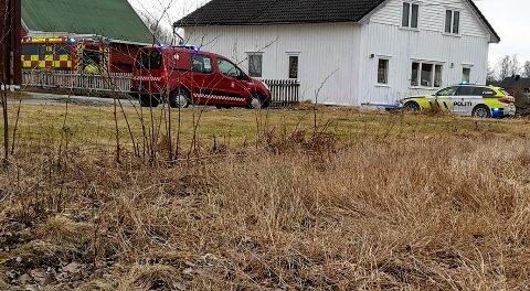 Brannvesenet fikk raskt kontroll iver gressbrannen i Eidsvoll.