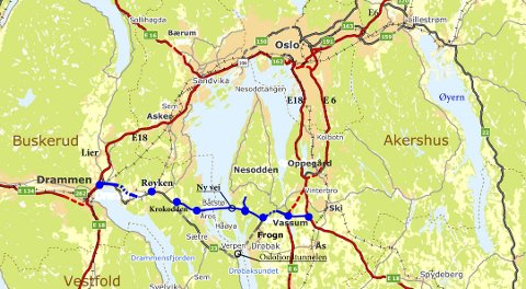 oslofjordtunnelen kart Røyken og Hurums Avis   Oslofjordtunnelen må stenges og erstattes  oslofjordtunnelen kart