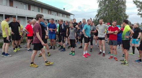 MANGE LØPERE: 92 løpere var med på Torsdagsløpet i går.