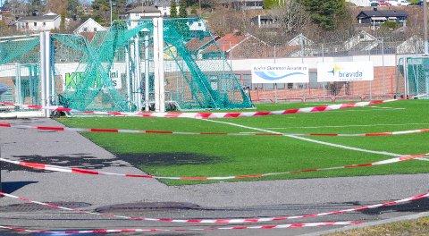STENGT: SFK-banen på Kurland er fortsatt stengt for organisert trening.