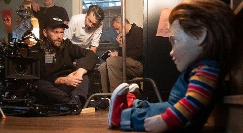 """PÅ SETT: Lars Klevberg (40) fra Havnås, lever av å lage film i Hollywood. Her på sett til filmen """"A Child´s Play""""."""