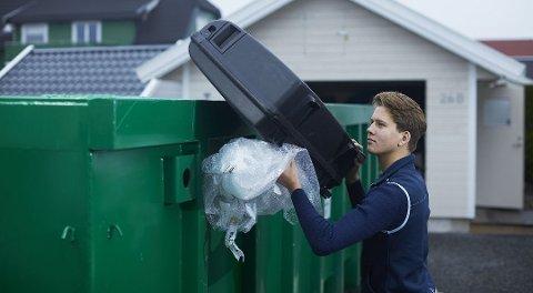 Sjekk om utleiefirmaet har satt en vektgrense på containeren før du leier, råder ekspertene. Foto: Ragn-Sells/ANB