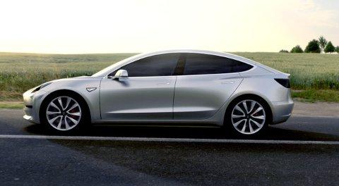 Fra siden kjenner vi igjen mye fra både Model S og Model X fra Tesla.