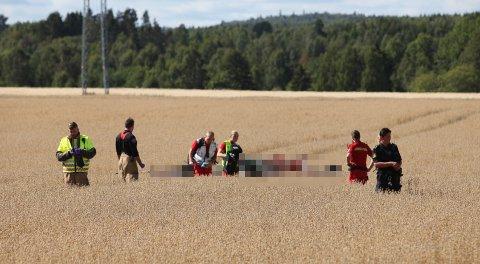 Flyet styrtet i en kornåker like i nærheten av Ekeberg skole