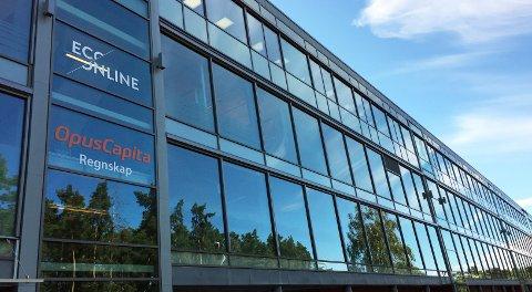 VOKSER RASKT: Ingen prangende skilt på hovedkontoret ved Tønsberg gressbane for suksessbedriften EcoOnline.