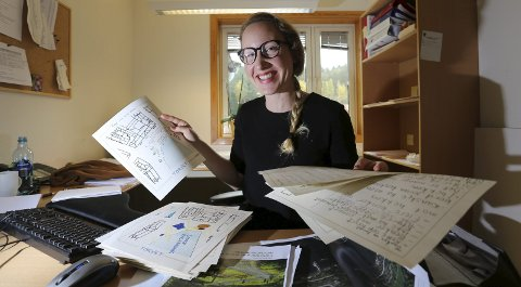 Idébunken vokser: – Fortsetter forslagene å komme i dette tempoet, får jeg mye grunnlag å jobbe med, smiler RUV-leder Tine Karlsvik.foto: stig sandmo.