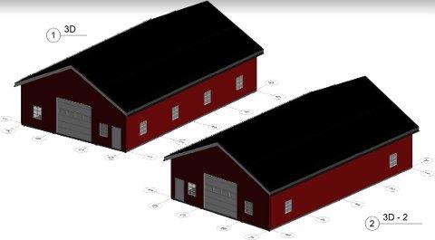 OVER 70 KVADRATMETER: Vitalis Helse Kragerø ønsker å bygge en landbrukshall på Holmen gård, men arkitekturen overbeviser ikke Agder fylkeskommune.