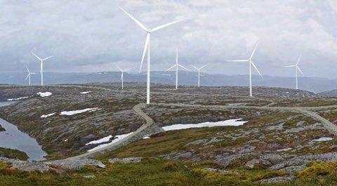 BUHEII:  Illustrasjon fra Flæin på Buheii. FOTO: Konsesjonssøknad Buheii vindkraftverk/ Multiconsult