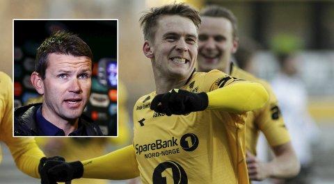 Trives: Kristian Fardal Opseth trives som Glimt-spiller og fokuserer kun på å spille beste mulig i de 15 seriekampene som gjenstår før utlånsavtalen med Sogndal går ut.
