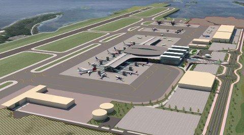 En ny flyplass i Bodø skal, etter planen, stå ferdig mellom 2024 og 2026. illustrasjon: Avinor