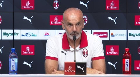 Stefano Pioli på pressekonferansen onsdag.