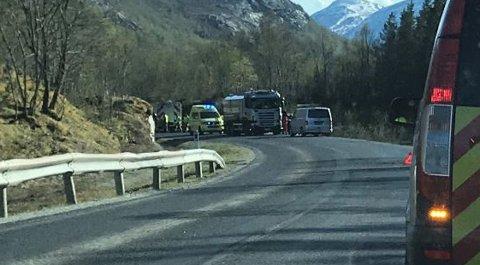 Ulykken skjedde ved Ertenvåg i Gildeskål.