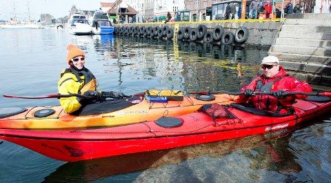 Anniken Hansen Hagen og John Morten Øvrebø er glade i padling og har brukt mye av påsken i kajakk - og Paris.