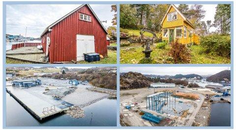 Områdeplanen for Kaupanes blir tema igjen i løpet av våren. Det har kommet totalt seks klager på kommunestyrets vedtak fra desember i fjor, der det ble bestemt at hyttene i Fiskarvik (øverst) må vike til fordel for industri. Klagene skal trolig behandles i mai.
