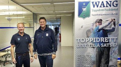 Rektor Petter S. Wilhelmsen (til venstre) og Håvard R.F. Johansen, toppidrettssjef i Wang sentralt. Arkivfoto: Erik A. Pedersen