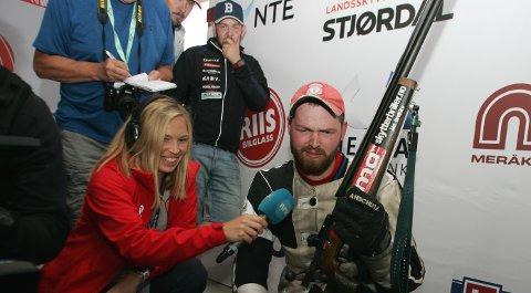MISFORNØYD: Daniel Sørli skjøt seg til en plass i Kongelaget, men skytterkongen fra 2016 var ikke fornøyd med sin egen prestasjon.