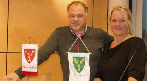 NY VEI: Ordførerne Knut Hvithammer i Sør-Odal og Grete Sjøli i Nes er klare for å begynne prosessen med å peke ut hvor nye E16 mellom Kløfta og Kongsvinger skal gå.