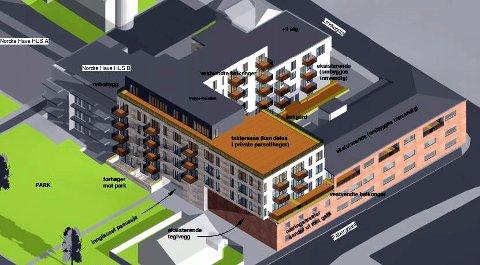 42 nye leiligheter er planlagt i og ved Margarinfabrikken på Lillehammer. Det er ikke tatt endelig stilling til valg av fasade og utforming ellers.