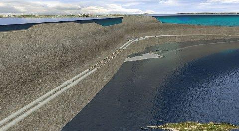 E 39: Tunnelen under Boknafjorden vil se slik ut når Rogfast er ferdig. Foto: Norconsult/Statens vegvesen