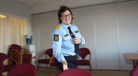 I FARTA: Onsdag åpnet hun barnehus i Mosjøen og i går presenterte Tone Vangen framtidas politiorganisering i Nordland samme sted. Bilder Rune Pedersen