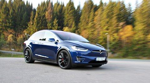 RASK SUKSESS: Tesla i Norge leverte i september ut så mange Model X at den havnet på andreplass i salgsstatistikken.   FOTO: Morten Abrahamsen / NTB tema /
