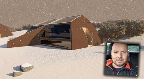 AVSLAG: Nils Mikael Sara fikk avslag på å bygge 23 hytter i Kiby. Han får derimot bygge seks hytter og 20 domer. Tilsammen blir det 128 sengeplasser.