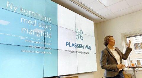 Hof: Holmestrand næringsforening ved daglig leder Line Mobråthen Rygh håper på fullt hus i flerbrukshuset. Foto: Pål Nordby
