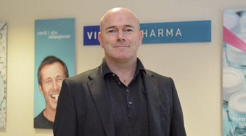 Positivt: Jarrod Ritchie var godt fornøyd med møtene både med de ansatte og tillitsvalgte ved Vistin Pharma på Gruveveien.