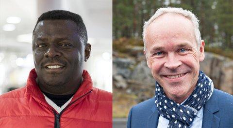 MØTE: Seksjonsleder i flyktningtjenesten i Kongsberg Cherif Ousman, skal møte statsrår Jan Tore Sanner på Krona fredag.