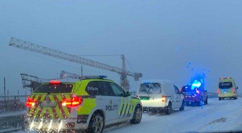 ULYKKE: Det ble full utrykning til Gamlegrendåsen tirsdag ettermiddag denne uken.