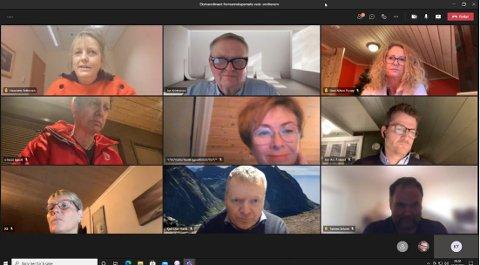 NETTMØTE: Fredagemns formannskapsmøte i Lyngdal ble avviklet på teams.